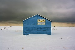 shed2 (myrtletickner) Tags: winter snow beach out shed scene bleak margate seson