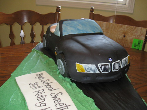 40th Anniversary BMW Car Cake