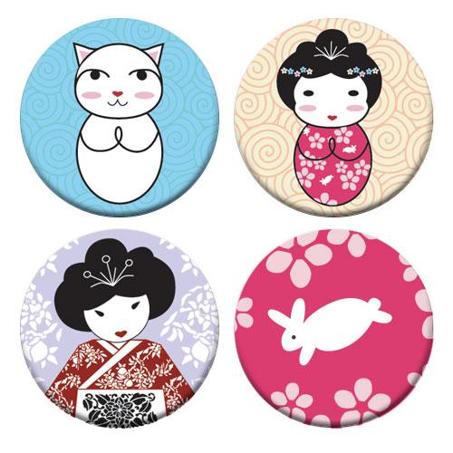 Geisha Badge Set