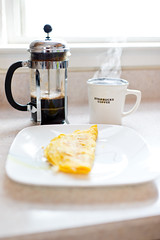Nikon 35mm f/1.4G Samples - Breakfast (Dominick Paoli) Tags: coffee breakfast 35mm nikon frenchpress starbucks samples omlette f14g d3s