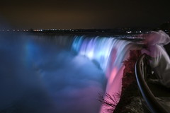 Ghost of the Falls (Pete Rocks) Tags: mist canada water night america river waterfall spring ghost niagara falls 1855mm 2010