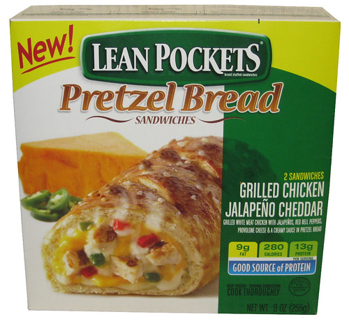 Lean Pockets Pretzel Bread Sandwiches Grilled Chicken Jalapeno Cheddar Box