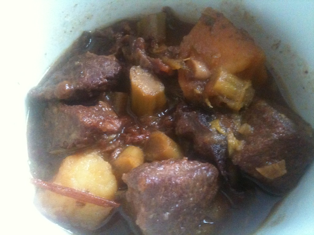 Beef Stew Made with Scraps