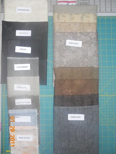 Cat Quilt Fabric