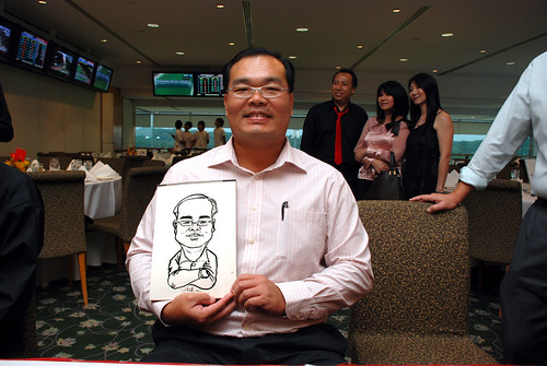 caricature live sketching for Thorn Business Associates Appreciate Night 2011 - 4