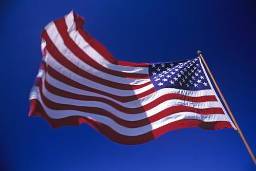american flag waving video. American flag waving in wind