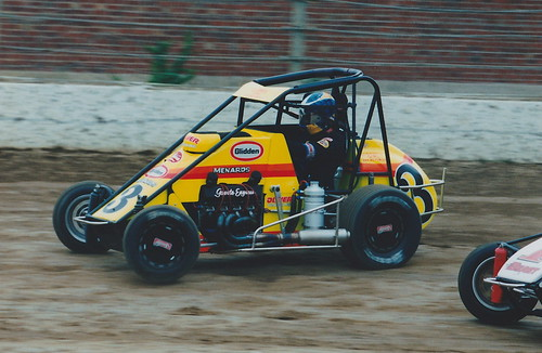Ed Carpenter races at the 16th Street Speedway in June 1999