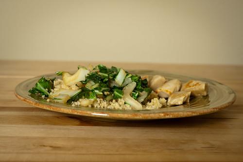 Bok Choy over Quinoa