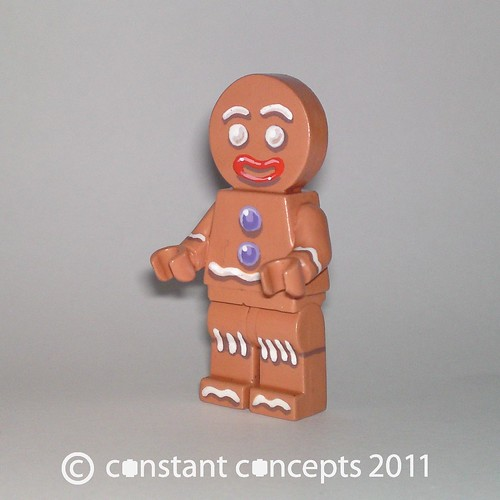 Custom minifig 2011 Shrek DreamWorks Gingy Gingerbread Man Custom minifig