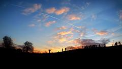 Top of Primrose Hill on a Sunday evening (Anatoleya) Tags: city sunset sky london silhouette clouds pen evening hill silhouettes olympus primrosehill hdr primrose epl1 anatoleya