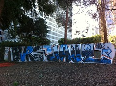R.I.P. hubba..... bvrs, jaut (SF_SCUM) Tags: sf sanfrancisco out graffiti bay hide ledge area hideout hubba burs jaut huba bvrs
