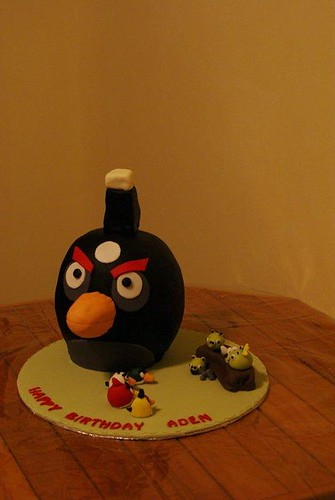 Aden's Angry Birds Cake