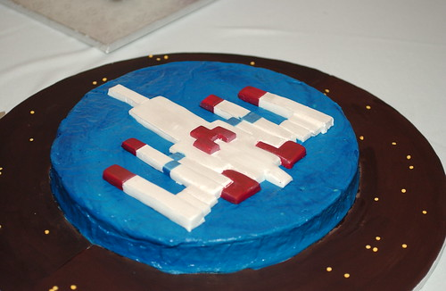 Galaga groom's cake
