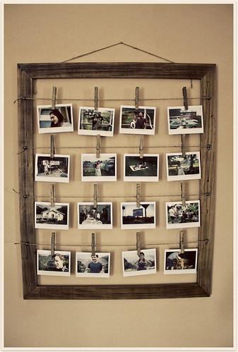 Ideas para colocar fotos en un marco