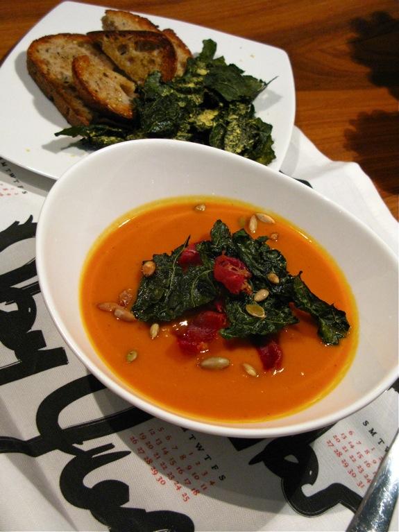 butternut squash soup kale 005
