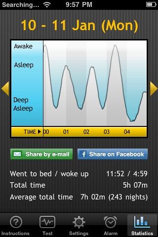 Sleep Cycle App - screenshot