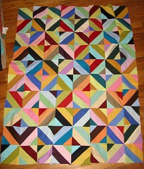 perfection is overrated (LittleOliveBranch) Tags: quilt top fabric cotton solids blocks patchwork wonky kona jellyroll piecing robertkaufman
