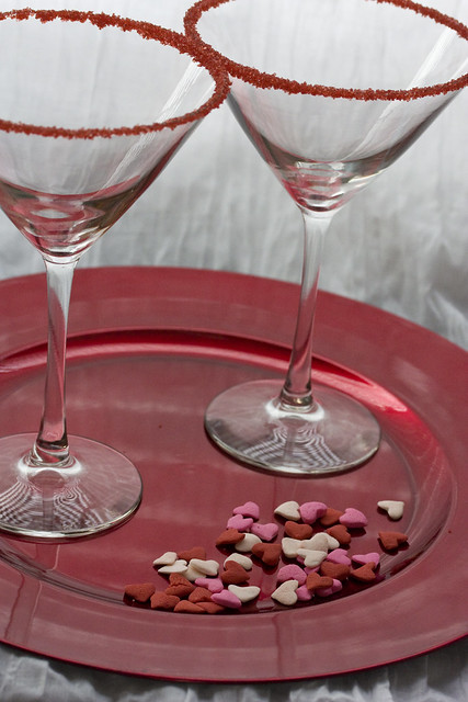 Rimmed Martini Glasses