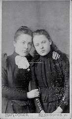 Victorian Sisters Kensington (vintage ladies) Tags: sisters vintage studio dress affection victorian bow corset kensington