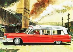 [フリー画像] 乗り物, 自動車, ゼネラルモーターズ, 絵画・版画, キャデラック, 201102192300
