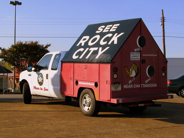 The See Rock City painters truck