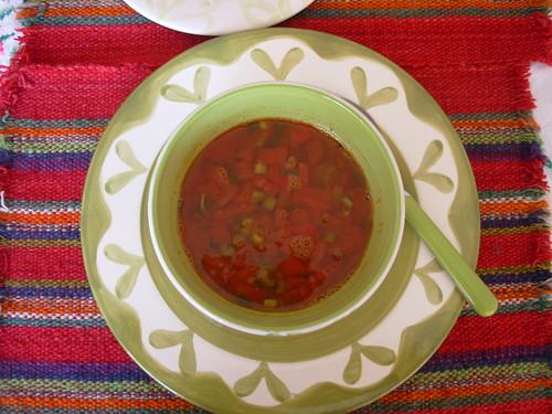 Entrada: sopa de lentejas