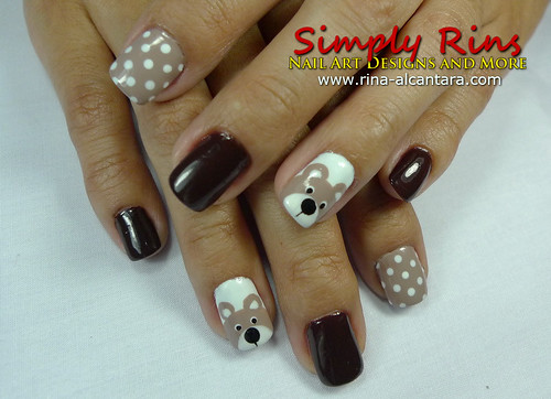 Nail Art Teddy Bear 05