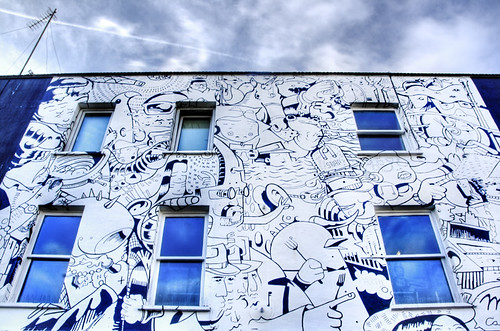 London. Mural. Candem Town. Londres