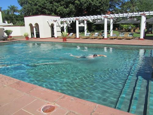 Swimming at the Victoria Falls Hotel