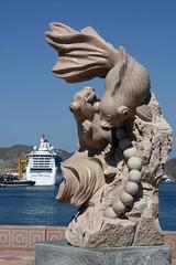 Muscat Corniche (grey0beard) Tags: cruise sculpture fish statue ship gulf pearl oman muscat brilliance muttrah brillianceoftheseas