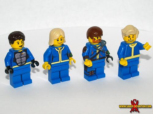 Custom minifig Fallout Vault Dwellers custom lego minifigures