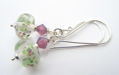 Heather (Glittering Prize - Trudi) Tags: green glass beads purple crystal jewellery swarovski earrings jewelery trudi sterlingsilver glitteringprize almpwork