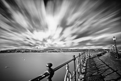 What Swanage has to offer (RyanCrockerPhotography) Tags: ocean sea england blackandwhite bw west beach canon landscape bay coast pier long exposure angle south country wide dorset swanage jurassic purbeck 5dmkii