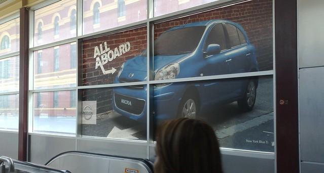 Nissan Micra advertising at Flinders St Station