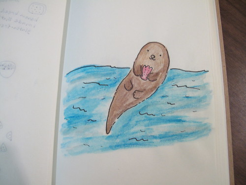 My otter drawing I made for my Sketchbook Project.