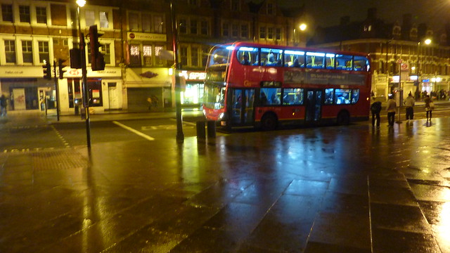 Brixton main road at nigth