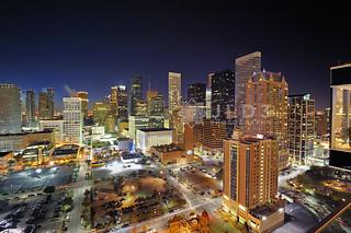 Houston Skyline Wide