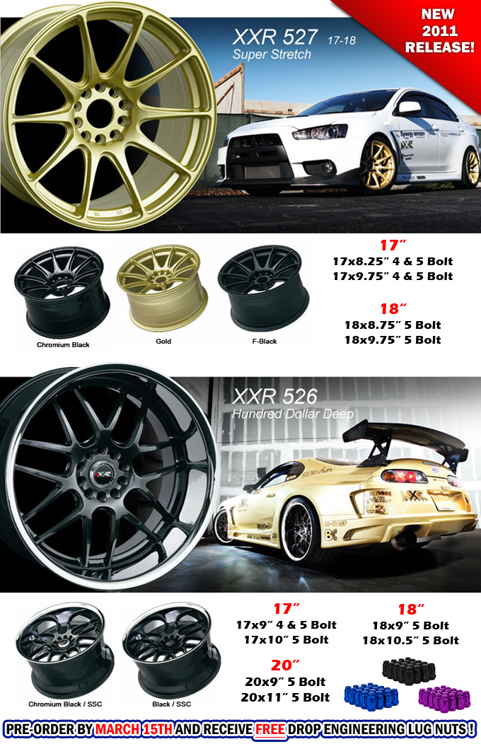 XXR 526 / XXR 527 Wheels