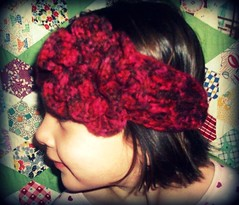 childrens crochet headband/ earwarmer with flower (backporchmoon) Tags: crochet headband earwarmer childrenspicnikfebruaryiv