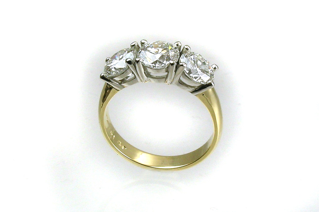Custom Designed Traditional 3-Stone Ring