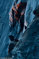 Just for the record... (Elizabeth Haslam) Tags: california blue winter sunset red sky mountain water rock fire waterfall charcoal yosemite yosemitenationalpark horsetailfalls 2011 firefalls elizabethhaslam