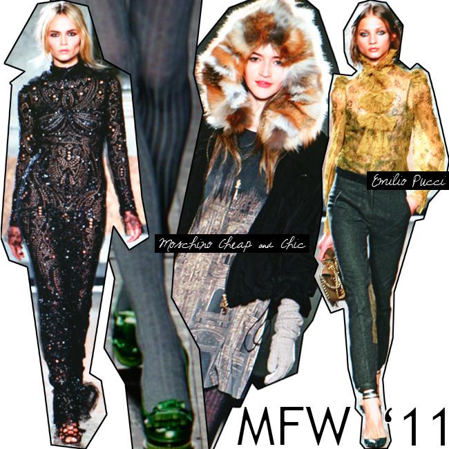 Milan Fashion Week, Emilio Pucci, Moschino Cheap and Chic