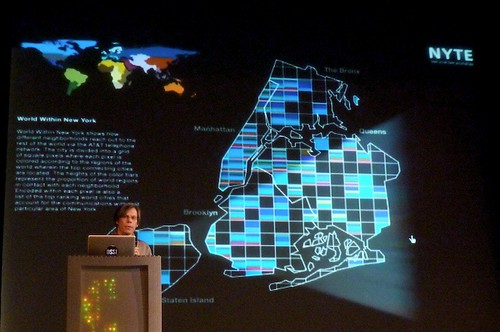 Dietmar Offenhuber (MIT) maps immigrant phone call patterns in NYC