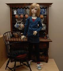 Seating (Little little mouse) Tags: bjd dollfie bindi bandi miniaturechair dollstown orangebabydolly