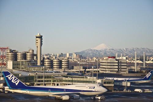 Haneda and Fuji