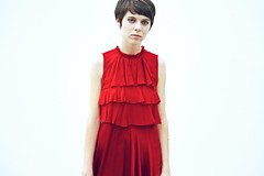 Sophie (Xiangk) Tags: red girl fashion photography dress