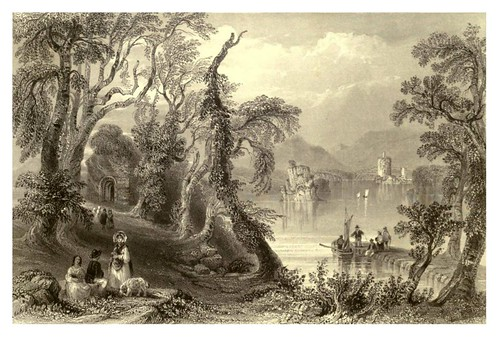 011-Inisfallen-Lago de Killarney-The scenery and antiquities of Ireland -Vol II-1842-W. H. Bartlett