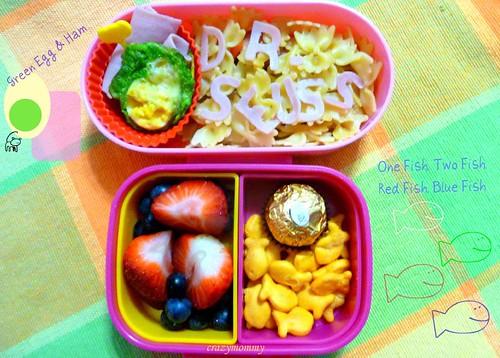 Dr. Seuss Green Egg and Ham Bento