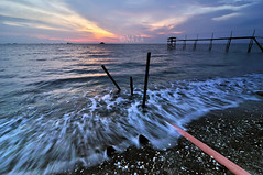 You are here and always near (naza.carraro) Tags: sunset beach high slow jetty tide wave foam shutter kuala klang jeram selangor pasir kulit jeti meru hitam ombak kerang remis buih naza kapar naza1715 nazarudinwijee