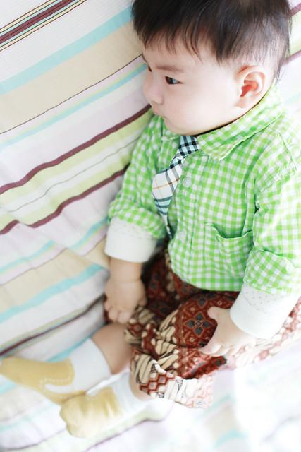 Baby Marcus wearing Tie & Batik
